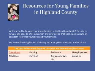 Resources for Young Families in Highland County