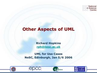 Other Aspects of UML