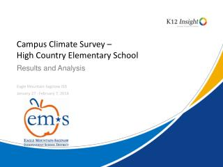 Campus Climate Survey –  High Country Elementary School