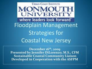 Floodplain Management Strategies for  Coastal New Jersey