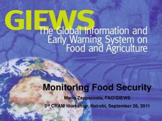 Monitoring Food  Security Mario Zappacosta, FAO/GIEWS
