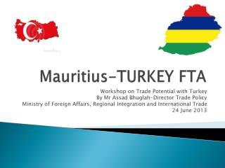 Mauritius-TURKEY FTA