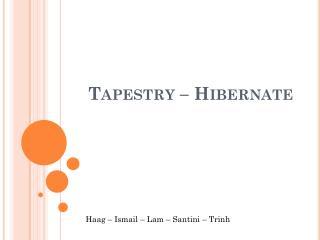 Tapestry  –  Hibernate