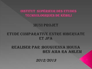 Institut  Sup�rieur des Etudes Technologiques de K�bili