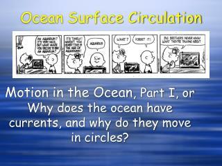 Ocean Surface Circulation