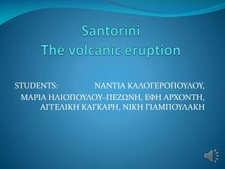 Santorini The volcanic eruption