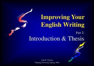 Improving Your English Writing
