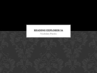 Reading Explorer 3A