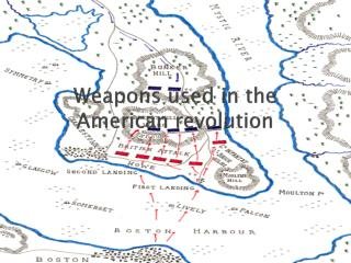 Weapons used in the American revolution