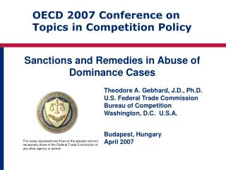Sanctions and Remedies in Abuse of Dominance Cases
