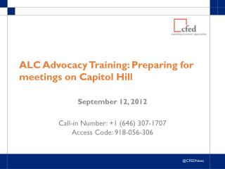 ALC Advocacy Training: Preparing for meetings on Capitol Hill