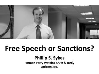 Free Speech or Sanctions?