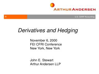 Derivatives and Hedging