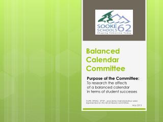 Balanced Calendar Committee