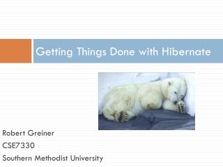 Getting Things Done with Hibernate