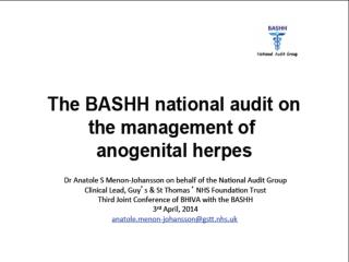 2014 Herpes Mx Audit April 2014 Third Joint Conference of BHIVA and BASHH