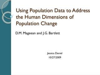 Using Population Data to Address the Human Dimensions of Population Change