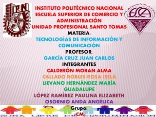 INSTITUTO POLITÉCNICO NACIONAL ESCUELA SUPERIOR DE COMERCIO Y ADMINISTRACIÓN