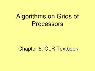Chapter 5, CLR Textbook