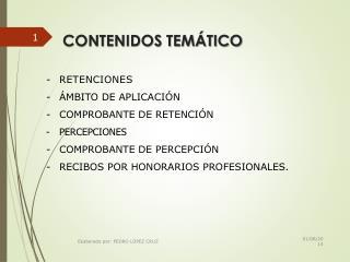 CONTENIDOS TEMÁTICO