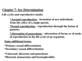 Chapter  7:  Sex Determination
