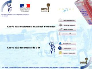 Document r alis  par Gyn cologie Sans Fronti res - Avril 2007 -