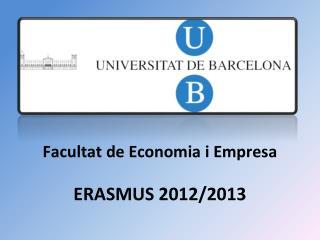 ERASMUS 2012/2013