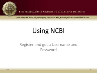 Using NCBI