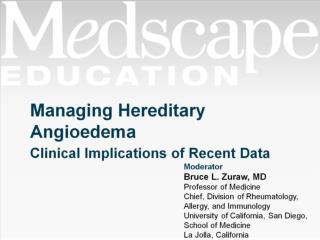 Managing Hereditary Angioedema