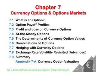Chapter 7  Currency Options & Options Markets