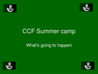 CCF Summer camp