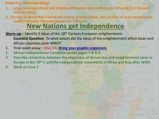 New Nations get Independence