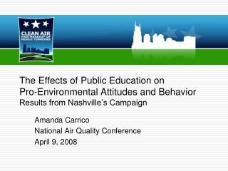Amanda Carrico National Air Quality Conference April 9, 2008