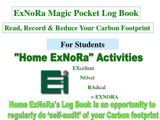 ExNoRa Magic Pocket Log Book