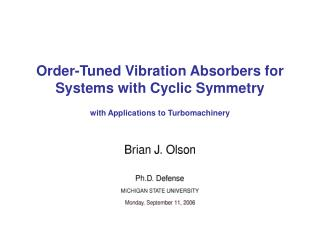 Order-Tuned Vibration Absorbers for Systems with Cyclic Symmetry