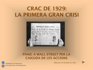PÀNIC A WALL STREET PER LA  CAIGUDA DE LES ACCIONS