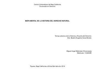 Centro Universitario de Baja California Doctorado en Derecho