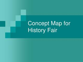Concept Map for History Fair