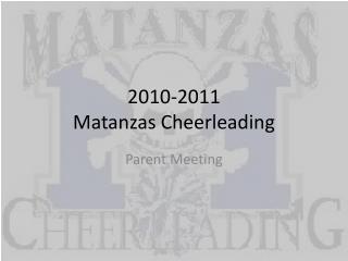 2010-2011 Matanzas Cheerleading