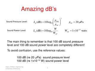 Sound Power Level: