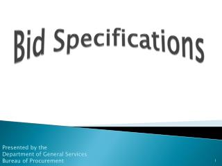 Bid Specifications