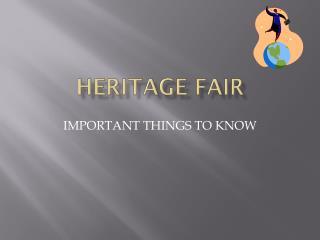 HERITAGE FAIR
