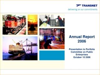 Transnet   Portfolio Committee  Presentation May 2006