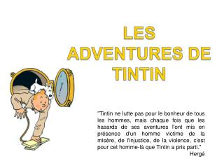 LES ADVENTURES DE TINTIN