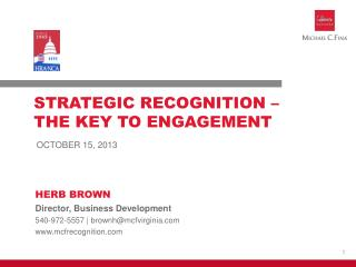 STRATEGIC RECOGNITION –  THE KEY TO ENGAGEMENT