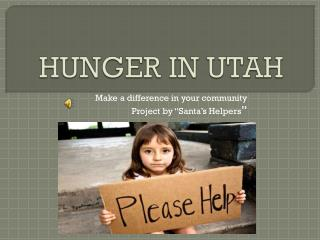 HUNGER IN UTAH