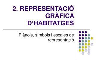 2. REPRESENTACI� GR�FICA D�HABITATGES