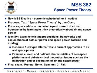 MSS 382 Space Power Theory