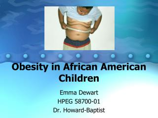 Obesity in African American Children