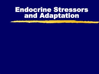 Endocrine Stressors and Adaptation
